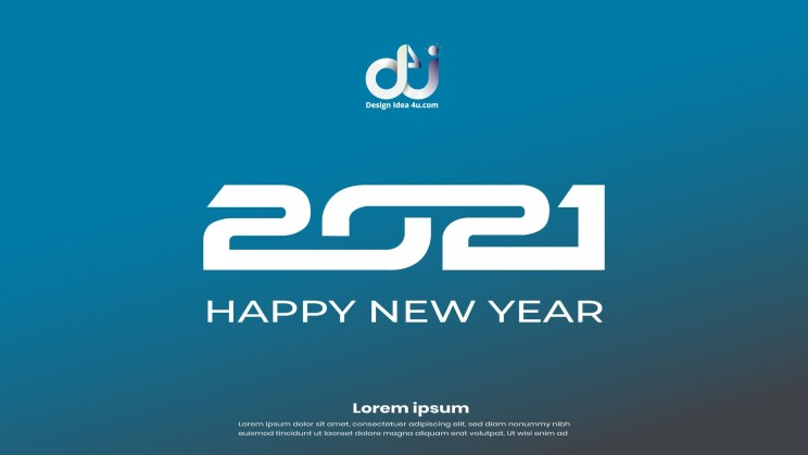 Modern Happy New Year 2021 Background