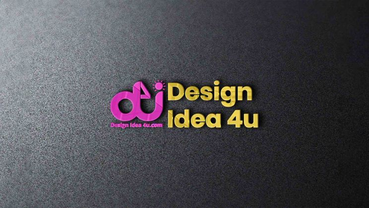 3D Logo Mockup on Wall With Glossy Effect