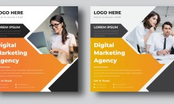 Digital marketing agency social media post and square flyer template
