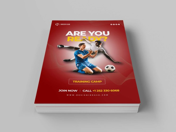 Football Sports Flyer Design Template Free Download