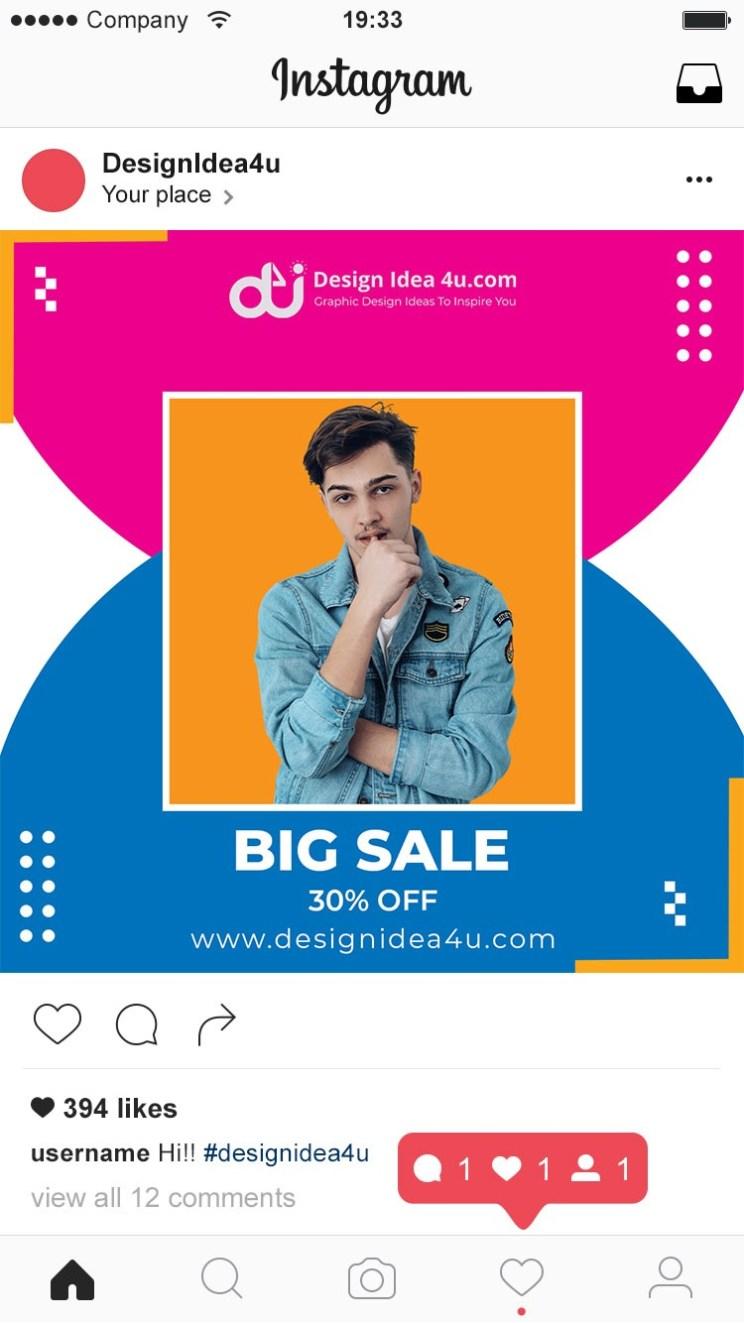 Minimalist instagram social media post feed banner template