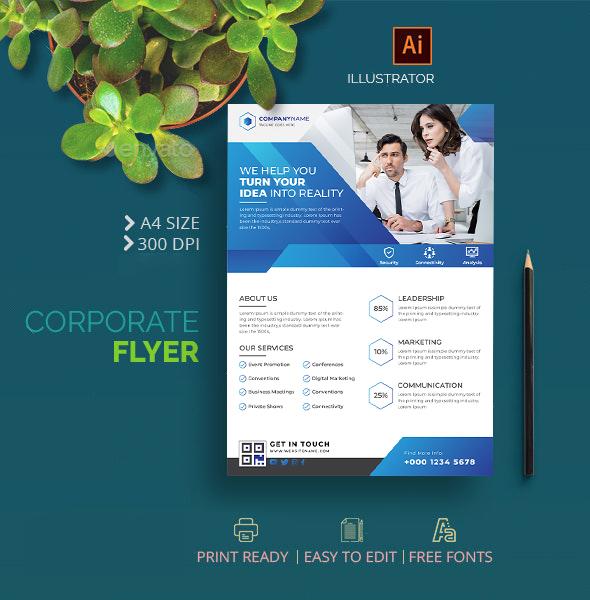 Creative Corporate Business Flyer Template
