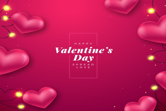 Realistic Valentines Day Background Free Download