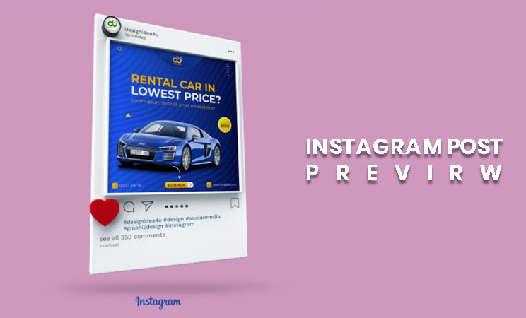 Car rent social media post template