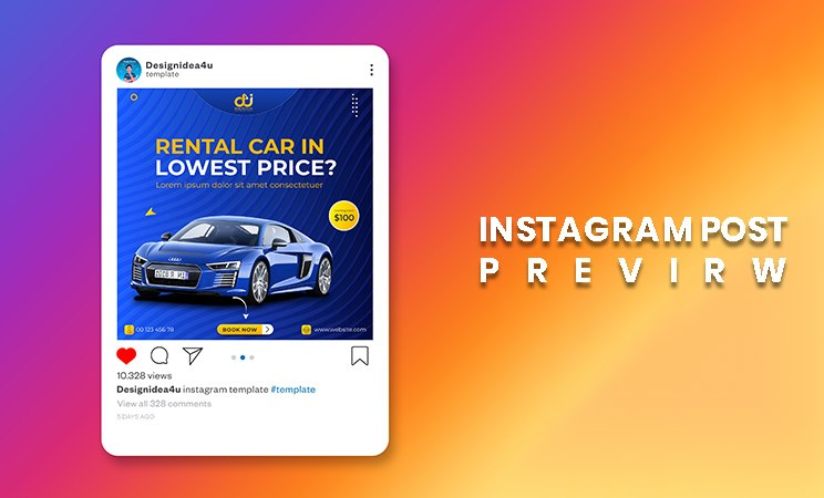 car instagram post template