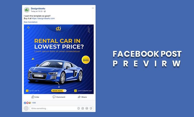 car facebook post template