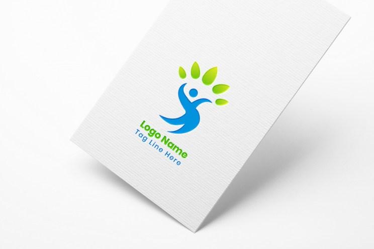 Human tree logo concept design
