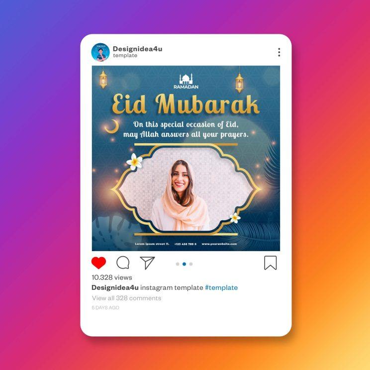 eid ul fitr design social media post