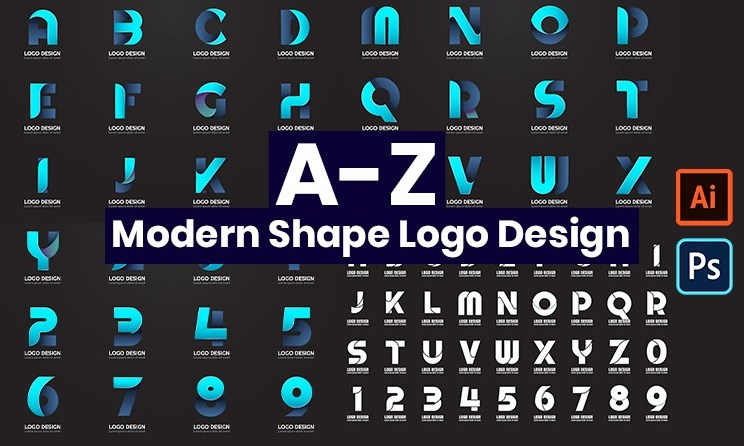 modern shape logo design