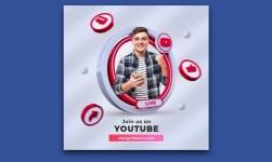 YouTube Social Media Square Banner