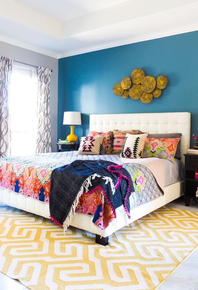 5 Steps to a Colorful Boho Bedroom - Design Improvised on Boho Master Bedroom Ideas  id=11446