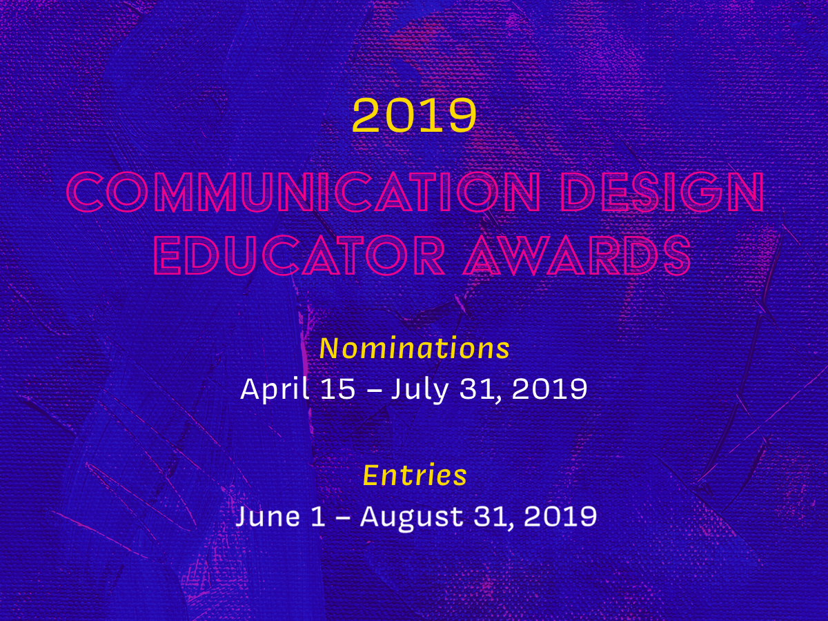 Call for Entries: 2019 Communication Design Educators Awards