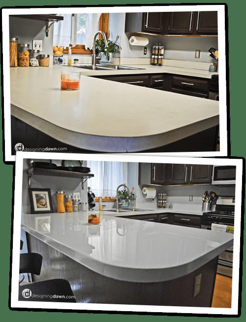 DIY Painted Laminate Countertops - Designing Dawn