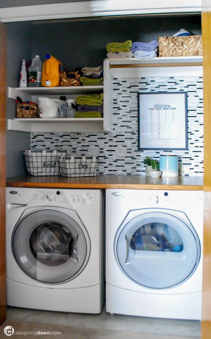 Designing Dawn - A laundry closet update.