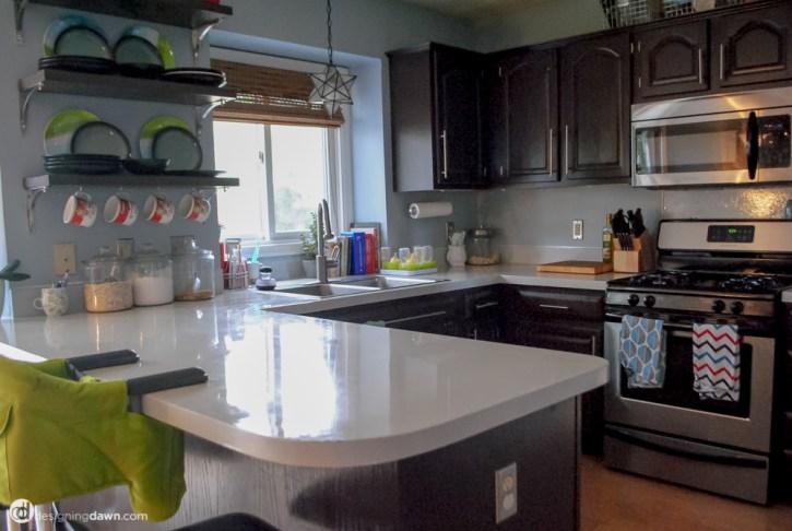 Kitchen Counter Now- DesigningDawn.com