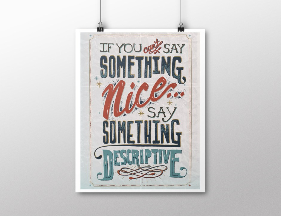 Say Something Nice by DesigningDawn.com