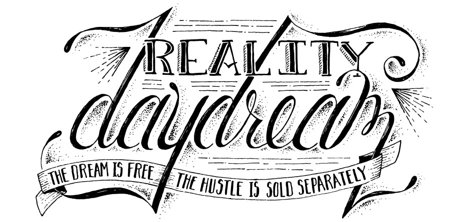 Reality Daydream Lettering by Designing Dawn