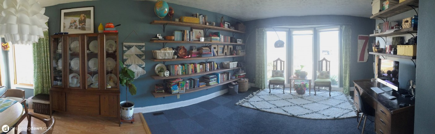 DIY Library Bookshelves • DesigningDawn.com