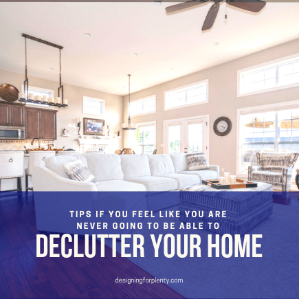 declutter, home, space, mindset, tips