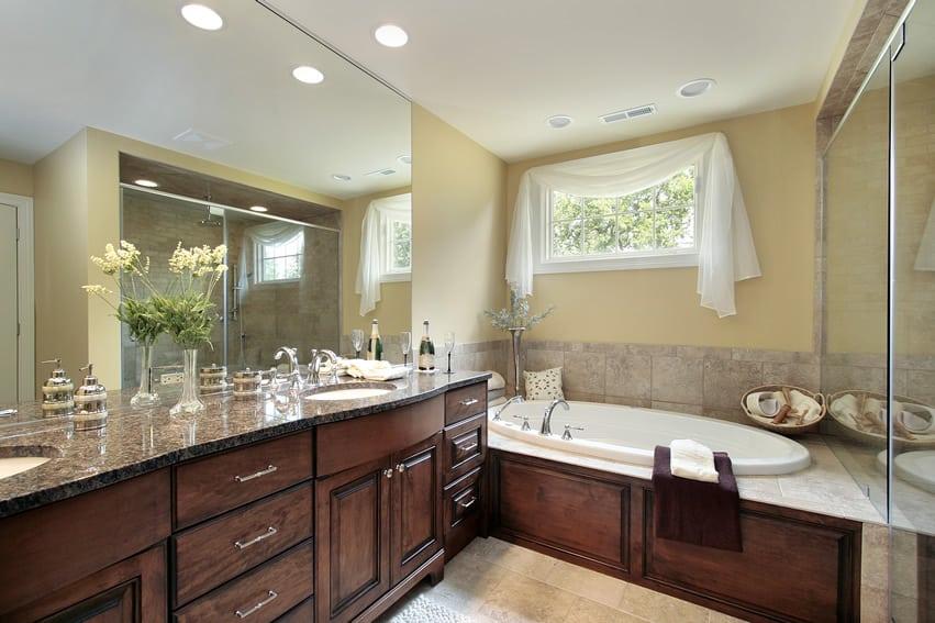 60 Luxury Custom Bathroom Designs & Tile Ideas - Designing ... on Bathroom Ideas With Maple Cabinets  id=67416