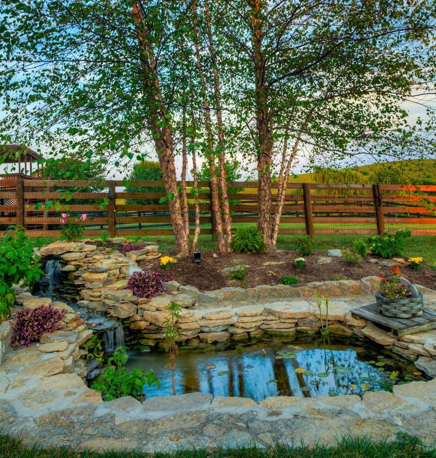 57 Garden Water Feature Designs - Designing Idea on Front Yard Waterfall Ideas id=71675