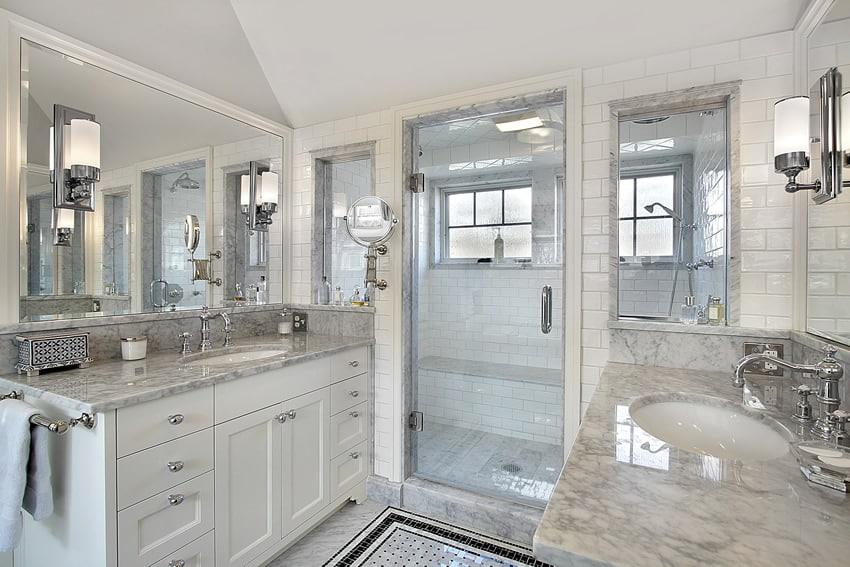 25 White Bathroom Ideas (Design Pictures) - Designing Idea on White Bathroom Design Ideas  id=89633