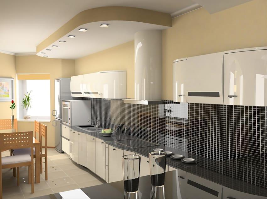 Shaped White Designs L Kitchen