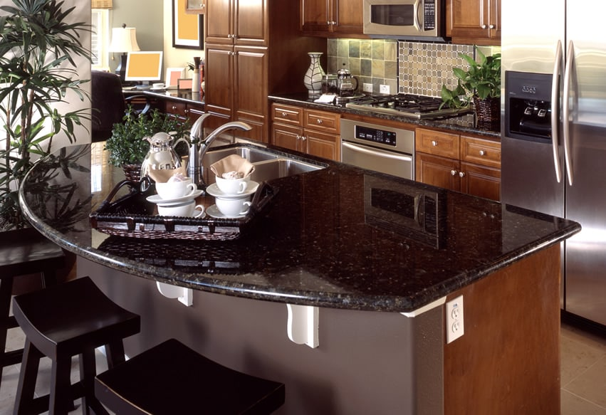 Granite Colors for Countertops (Pictures of Popular Types ... on Kitchens With Black Granite Countertops  id=35903