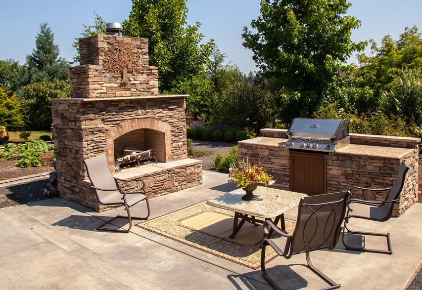 30 Outdoor Fireplace Ideas (With Pictures) - Designing Idea on Outdoor Kitchen And Fireplace Ideas id=79494