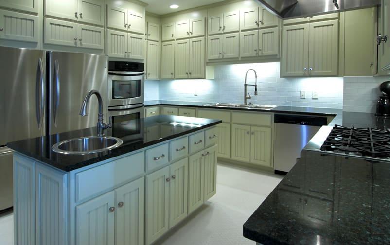 Types of Kitchen Countertops (Image Gallery) - Designing Idea on Black Granite Countertops Kitchen  id=20663