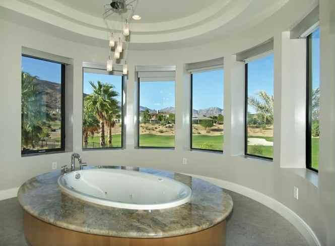Modern Chandelier In Bathroom