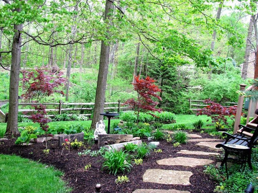 75 Walkway Ideas & Designs (Brick, Paver & Flagstone ... on Split Garden Ideas id=74736