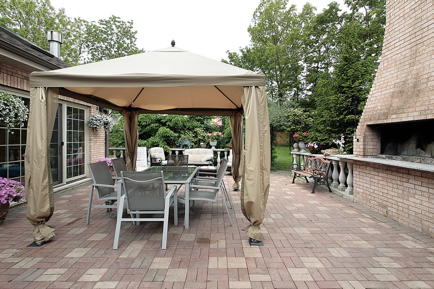 25 Brick Patio Design Ideas - Designing Idea on Backyard Brick Patio id=17096