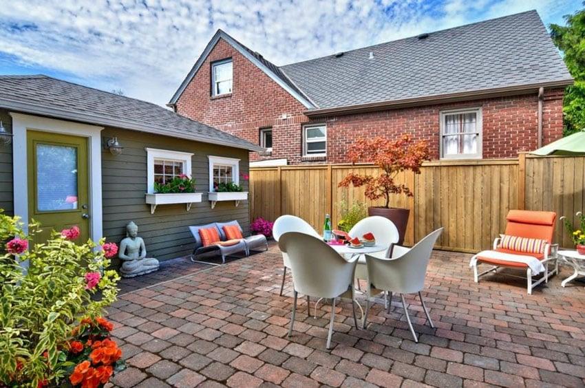 25 Brick Patio Design Ideas - Designing Idea on Small Backyard Brick Patio Ideas id=64790