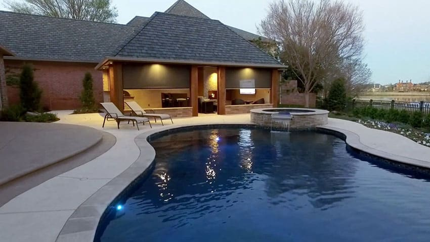 Pool Cabana Design with Outdoor Kitchen - Designing Idea on Outdoor Kitchen By Pool id=74500