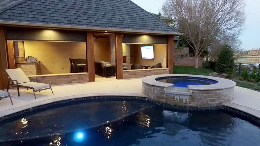 Pool Cabana Design with Outdoor Kitchen - Designing Idea on Cabana Designs Ideas id=20520