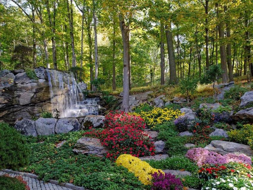 53 Backyard Garden Waterfalls (Pictures of Designs ... on Waterfall Ideas For Garden id=25444