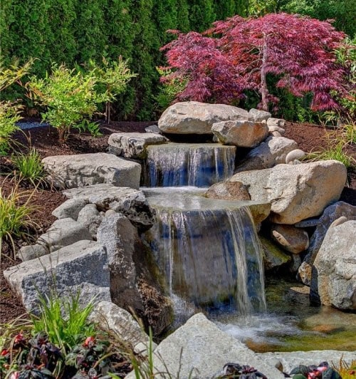 53 Backyard Garden Waterfalls (Pictures of Designs ... on Rock Garden Waterfall Ideas  id=23115