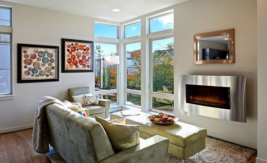 19 Beautiful Small Living Rooms (Interior Design Ideas ... on Small Space Small Living Room With Fireplace  id=86293