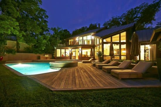 49 Backyard Deck Ideas (Beautiful Pictures of Designs ... on Luxury Backyard Design  id=75527