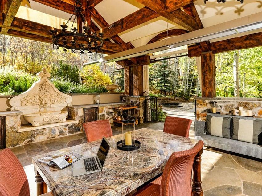 50 Beautiful Patio Ideas (Furniture Pictures & Designs ... on Luxury Backyard Patios id=18929