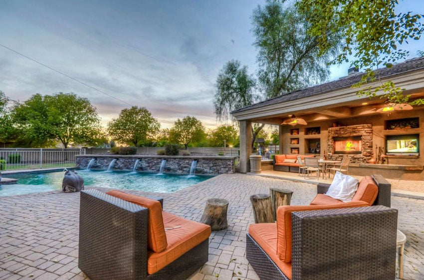 50 Beautiful Patio Ideas (Furniture Pictures & Designs ... on Covered Outdoor Living Area id=79758