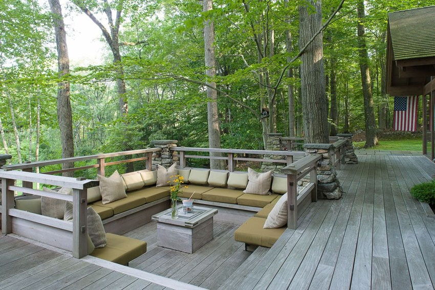 49 Backyard Deck Ideas (Beautiful Pictures of Designs ... on Back Garden Seating Area Ideas  id=16434
