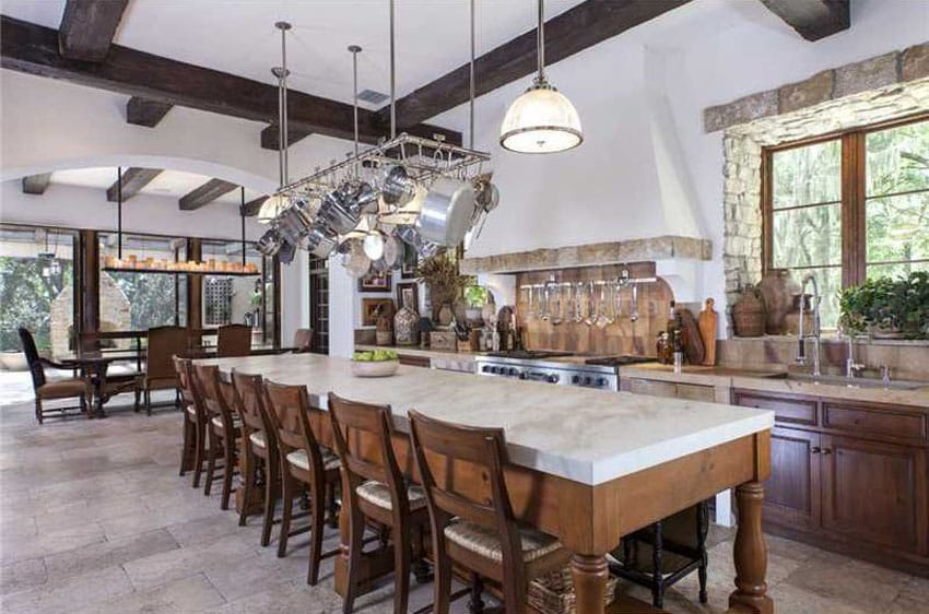 Large Dark Wood Dining Table