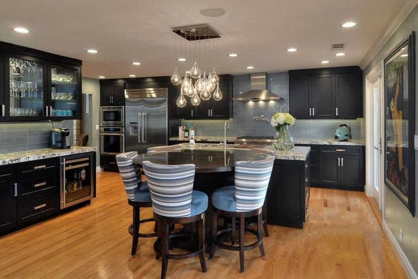 35 Luxury Kitchens with Dark Cabinets (Design Ideas ... on Backsplash Ideas For Dark Cabinets And Light Countertops  id=52837