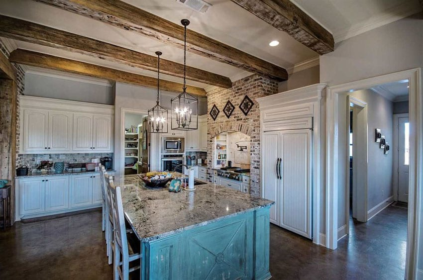 26 Farmhouse Kitchen Ideas (Decor & Design Pictures ... on Kitchen Farmhouse Granite Countertops  id=71088