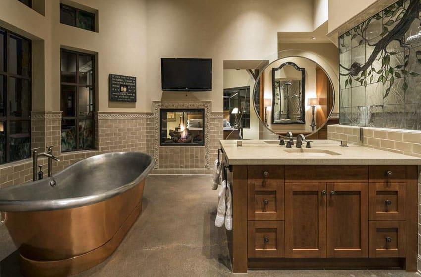 25 craftsman style bathroom designs