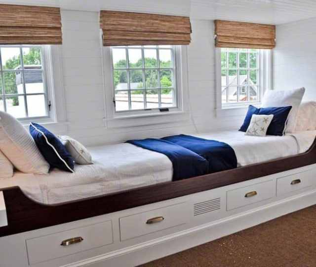 Window Seat Bed For Two With Under Cabinet Storage