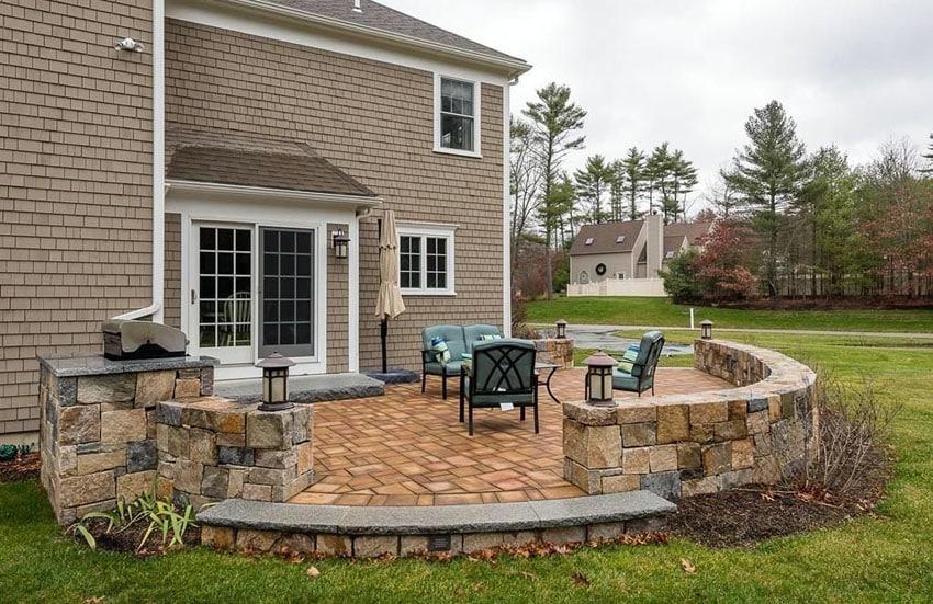 33 Stone Patio Ideas (Pictures) - Designing Idea on Small Backyard Stone Patio Ideas id=70941