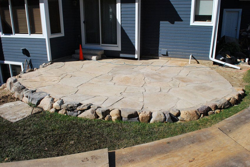 35 Stone Patio Ideas (Pictures) - Designing Idea on Rock Patio Designs  id=49164